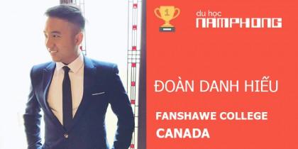 ĐOÀN DANH HIẾU đạt học bổng của Fanshawe College