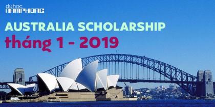 Danh sách học bổng du học Úc kỳ học tháng 1-2019