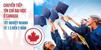 Chuyển tiếp tín chỉ tại Canada-Tốt nghiệp nhanh chỉ trong 1,5 đến 2 năm