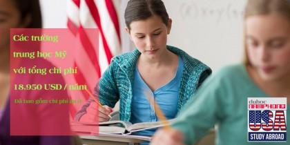 Du học Mỹ 2019 – Các trường tư thục phổ thông trung học với tổng chi phí $18.950 /1 năm