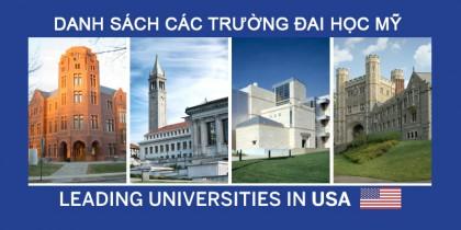 Các trường Đại học tiêu biểu tại Mỹ theo bang