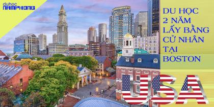Du học 2 năm lấy bằng cử nhân tại Boston – Thủ đô...