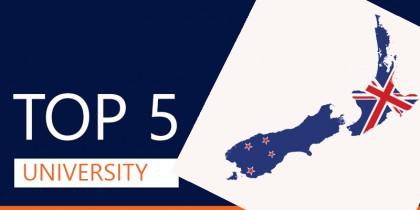 INFORGRAPHIC - Top 5 trường đại học ở New Zealand