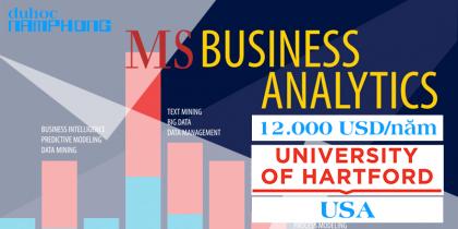 Du học Thạc sĩ ngành HOT phân tích dữ liệu kinh doanh tại ĐẠI HỌC UNIVERSITY OF HARTFORD, MỸ Học phí chỉ 12,000 USD/1 năm