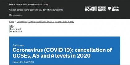 Hủy bỏ các kỳ thi GCSE, AS và A Levels năm 2020 do tình hình COVID-19
