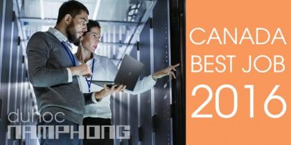 Danh sách Top 100 Canada Best Job 2016