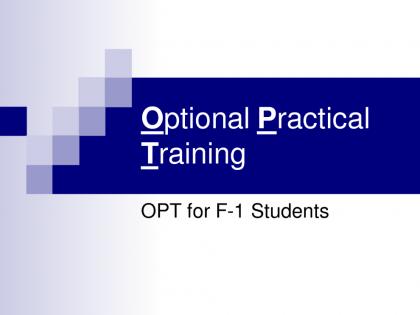 OPT là gì? Sinh viên làm việc ở Mỹ  theo chương trình OPT