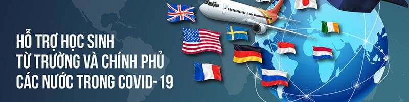 Hỗ trợ du học sinh từ các trường và chính phủ các nước trong Covid-19
