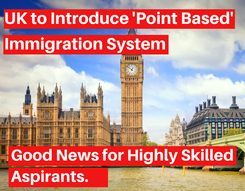Hệ thống tính điểm nhập cư mới của vương quốc Anh