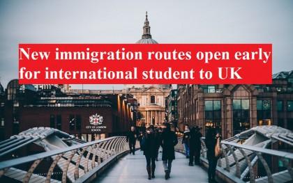 Chính phủ Anh áp dụng sớm chính sách nhập cư mới cho sinh viên quốc tế từ tháng 10/ 2020