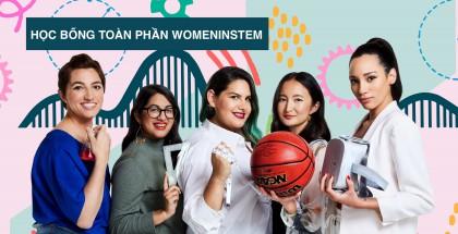 Học bổng WomeninSTEM - chi trả toàn bộ chi phí du học cho nữ giới trong ngành STEM