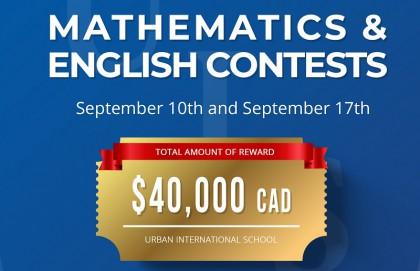 Cùng tham gia UIS Mathematics & English Contest - Nhận ngay tổng giải thưởng cuộc thi trị giá 40,000 CAD