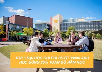 Top 3 trường đại học tại úc Học phí dưới 30000 AUD - Học bổng 25%